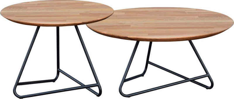 andas Couchtisch »Tonka«, Tischplatte aus massiver Eiche