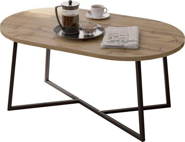 Wohnzimmertische - my home Couchtisch »Dinise«, mit ovalförmiger Tischplatte  - Onlineshop OTTO