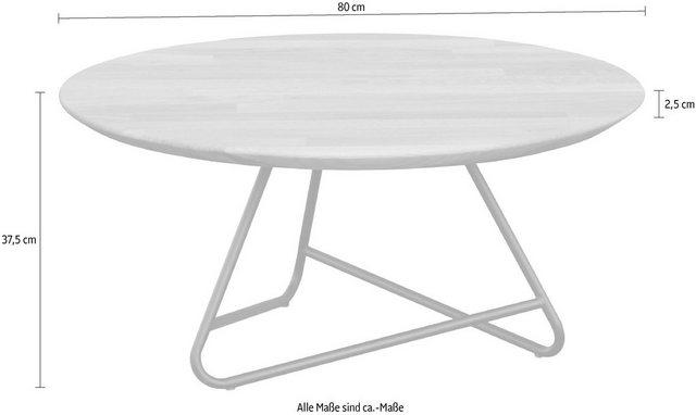 Wohnzimmertische - andas Couchtisch »Tonka«, Tischplatte aus massiver Eiche  - Onlineshop OTTO