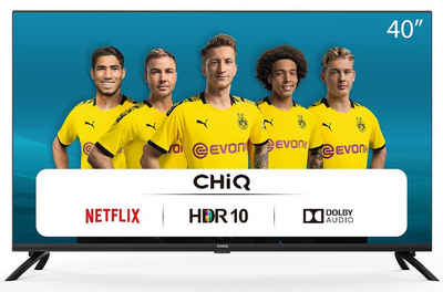 ChiQ L40H7N LED-Fernseher (100,00 cm/40 Zoll, Full HD, Smart-TV, HDR10, Screen Cast, Quad Core, Frameless Design, Netflix, DOLBY AUDIO, VP9, HbbTV, Youtube, Smart TV, Amazon Prime Video, Triple tuner)