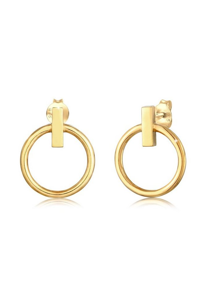 Kreis rund matt modern Design Ohrringe Ohrstecker Stecker 925 Sterling Silber