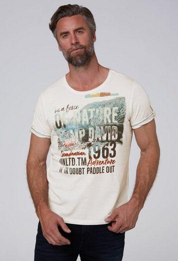 CAMP DAVID T-Shirt mit Turn-Up-Ärmel