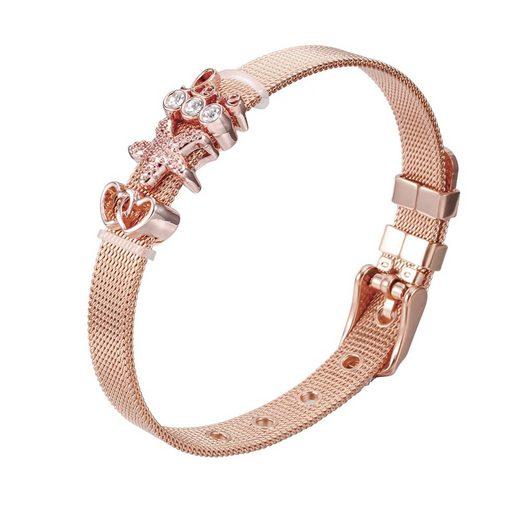 """Heideman Armband »Milanaise rosegold«, mit verschiedenen Charms """"Stern"""" und """"Herzchen"""""""