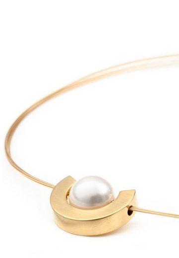 Heideman Kette mit Anhänger »Luna gold«, Edelstahlanhänger mit Perle in weiß