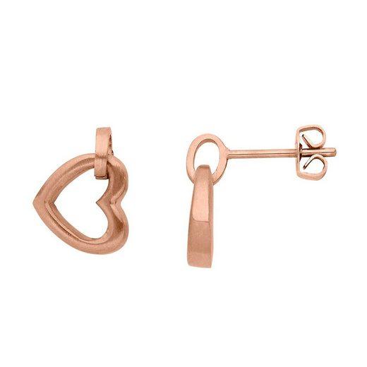 Heideman Paar Ohrhänger »Anima rosegold«, mit Herz Symbol für die Liebe