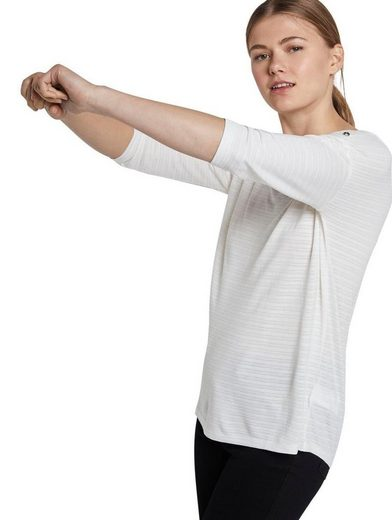 TOM TAILOR Denim 3/4-Arm-Shirt mit tollem Strukturstreifen