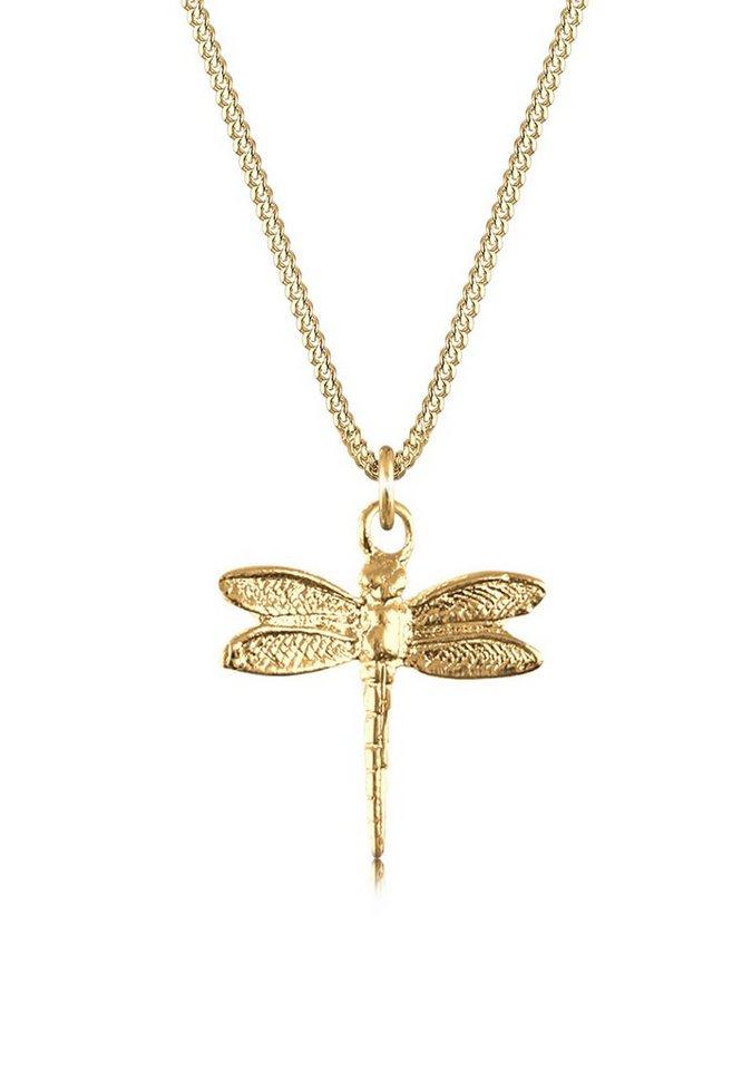 elli -  Collierkettchen »Libelle Panzerkette Tier Natur 925 Silber«