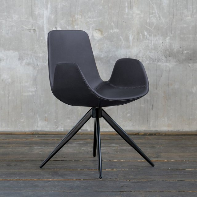 Betten - KAWOLA Esszimmerstuhl »Quen« Kunstleder versch. Farben mit oder ohne Drehfunktion › Einheitsgröße › schwarz  - Onlineshop OTTO