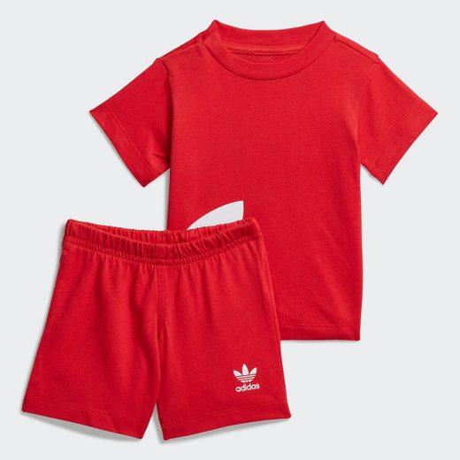 adidas Originals Trainingsanzug »Big Trefoil Shorts und T-Shirt Set«, adicolor