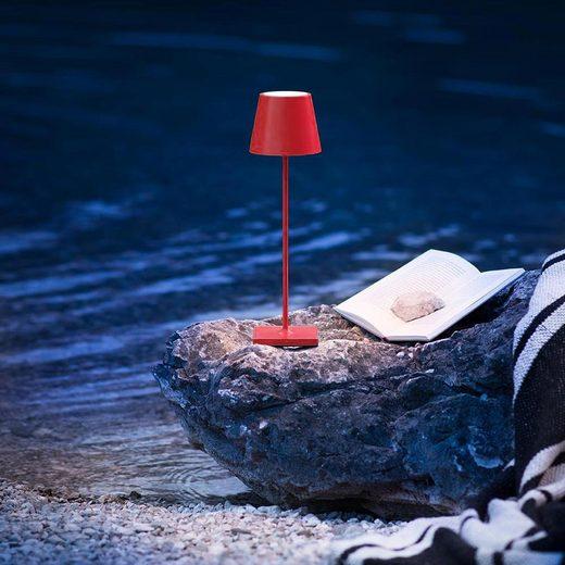 Licht-Trend Aussen-Tischleuchte »Qutarg Limited LED Akku Rot«
