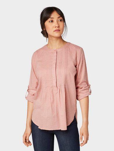 TOM TAILOR Shirtbluse »Bluse mit Struktur-Muster«