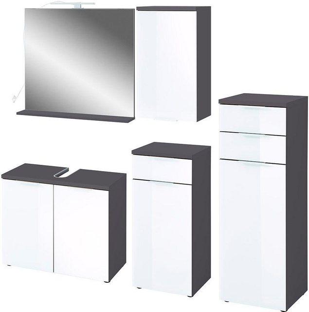 Badezimmer Sets - GERMANIA Badmöbel Set »Pescara«, (Set, 5 tlg)  - Onlineshop OTTO