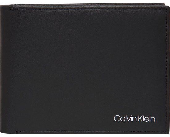 Calvin Klein Geldbörse »UNITED 10CC + COIN«, mit schlichter Logo Plakette auf der Vorderseite