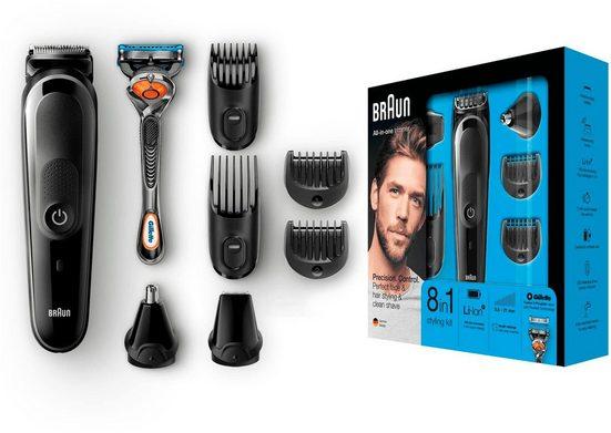 Braun Haar- und Bartschneider MGK5060, mit Gratis Gillette Fusion5 ProGlide Rasierer
