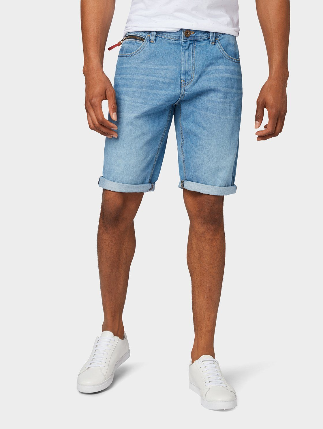 Herren TOM TAILOR Jeansbermudas »Josh Regular Slim Denim Shorts« blau | 04061945393615
