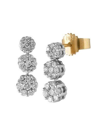 Diamond Line Diamantohrstecker mit 42 Brillanten