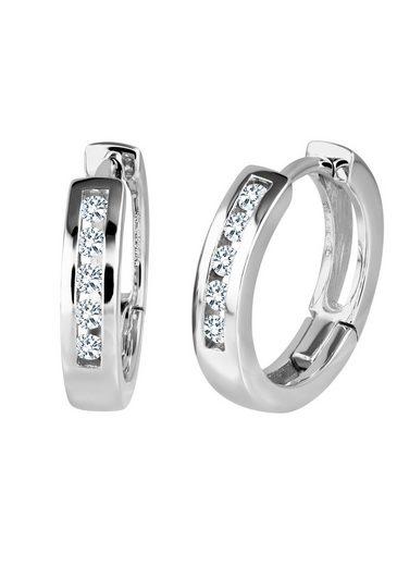 Diamond Line Creole mit funkelnden Diamanten