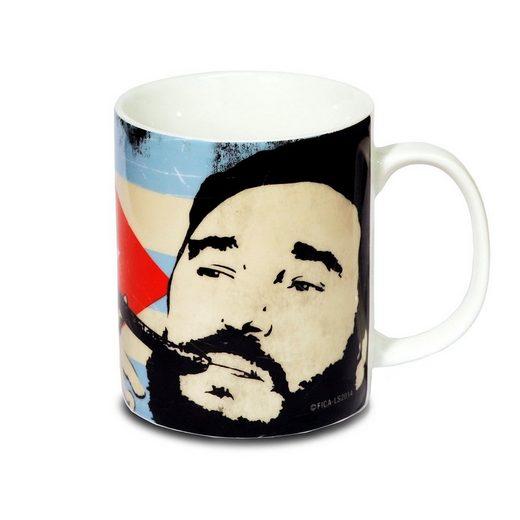 LOGOSHIRT Tasse mit Flaggenhintergrund »CUBA LIBRE«
