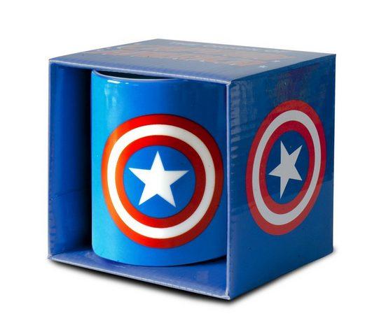 LOGOSHIRT Tasse mit tollem Print »Marvel Comics - Captain America Logo«