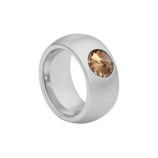 Heideman Fingerring »Coma 11 strichmatt« (1-tlg), mit Perle oder Stein