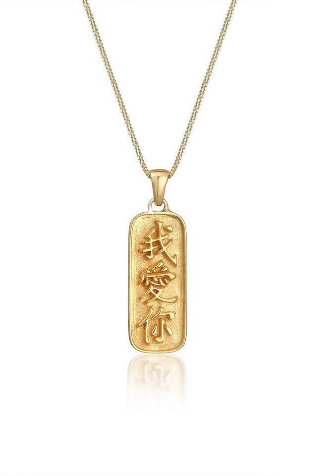 Elli Collierkettchen Munze Chinesische Schriftzeichen Ich Liebe