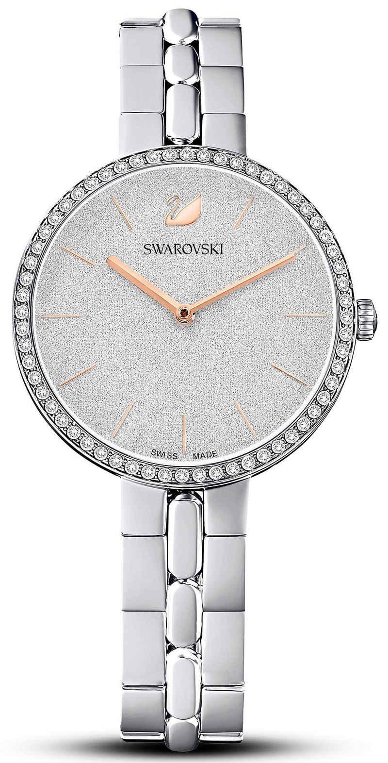 Swarovski Schweizer Uhr »COSMOPOLITAN, 5517807«, Zifferblatt mit Glitzerlack