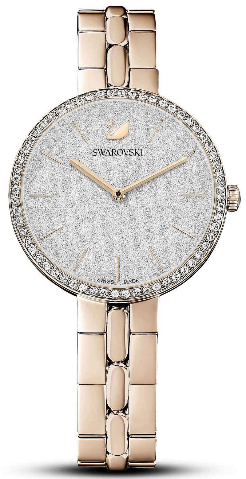 Swarovski Schweizer Uhr »COSMOPOLITAN, 5517794«, Zifferblatt mit Glitzerlack