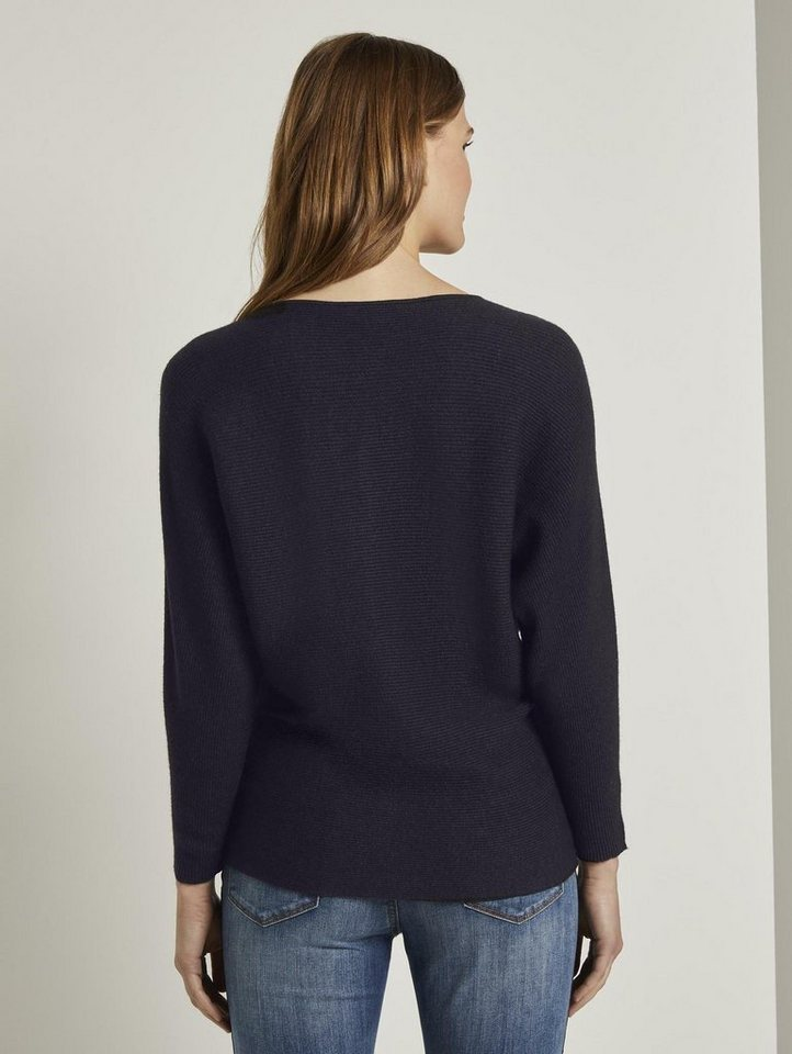 tom tailor denim -  Strickpullover »strukturierter Pullover«