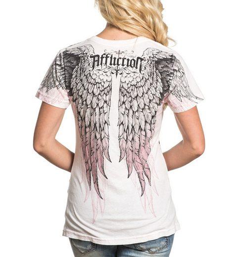 AFFLICTION T-Shirt mit extravagantem Flügel-Aufdruck