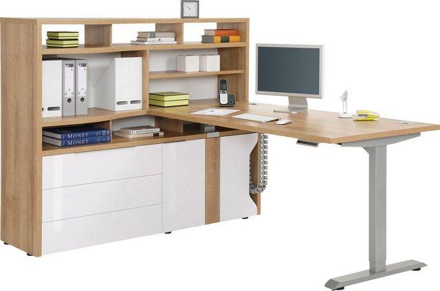 Maja Möbel Computerschrank »eDJUST MINIOFFICE 5508« Nur in Kombination mit den eDJUST Schreibtischen 5504 oder 5507 | Büro > Büroschränke > Computerschränke | Maja Möbel