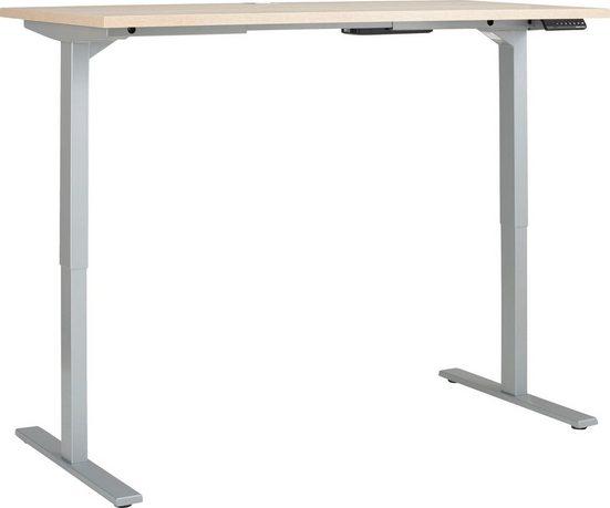 Maja Möbel Schreibtisch »eDJUST Schreibtisch 5507«, elektrisch höhenverstellbar, 2-Motoren-Gestell, Memoryfunktion