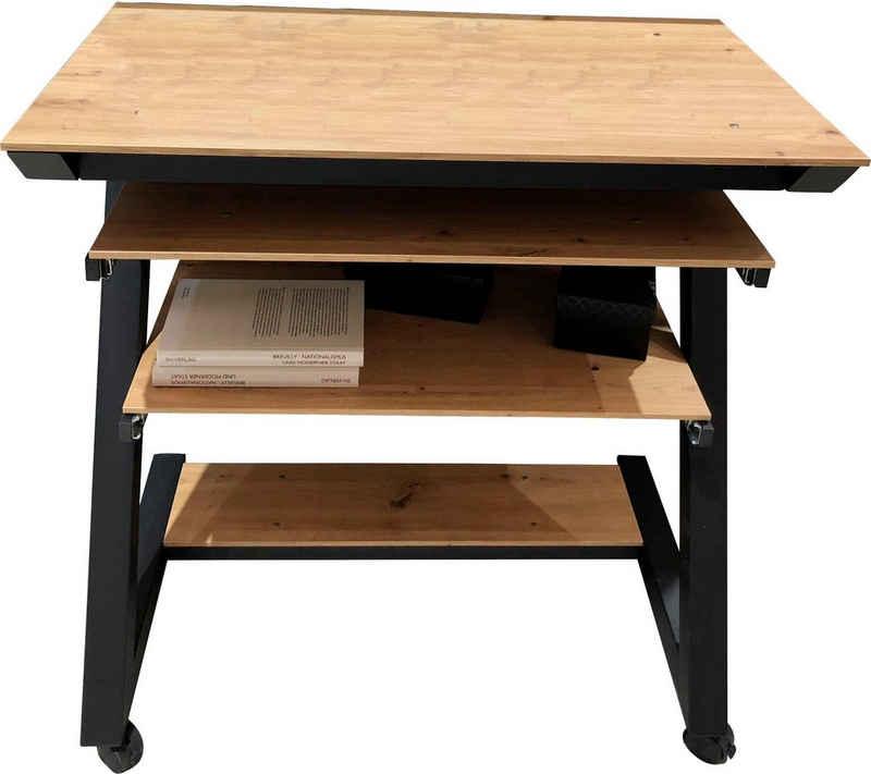 Maja Möbel Computertisch »Schreib- und Computertisch 1648«, Tastaturauszug, Druckerboden ausziehbar, 4 stabile Doppelrollen, 2 davon feststellbar