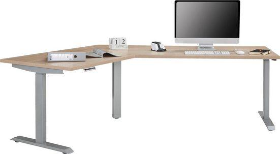 Maja Möbel Schreibtisch »eDJUST Schreibtisch 5512«, 120° Winkelkombination, elektrisch höhenverstellbar, 2-Motoren-Gestell, Memoryfunktion