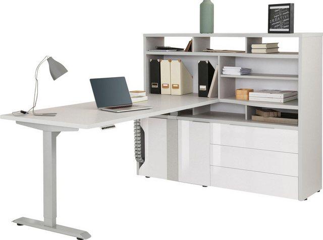 Maja Möbel Computerschrank »eDJUST MINIOFFICE 5509« Nur in Kombination mit den eDJUST Schreibtischen 5504 oder 5507 | Büro > Büroschränke > Computerschränke | Maja Möbel