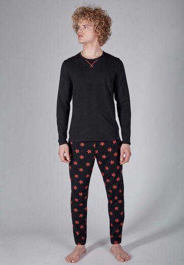 Skiny Schlafanzug-Set zweiteilig mit Sternen-Print »Sloungewear«