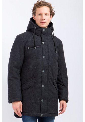 Пальто с warmer капюшон
