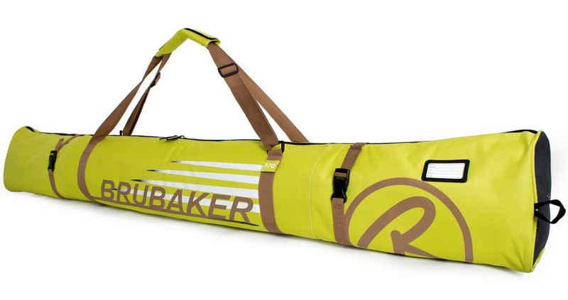 BRUBAKER Sporttasche »Carver Champion Skitasche Hellgrün« (1-tlg., reißfest und schnittfest), gepolsterter Skisack mit Zipperverschluss