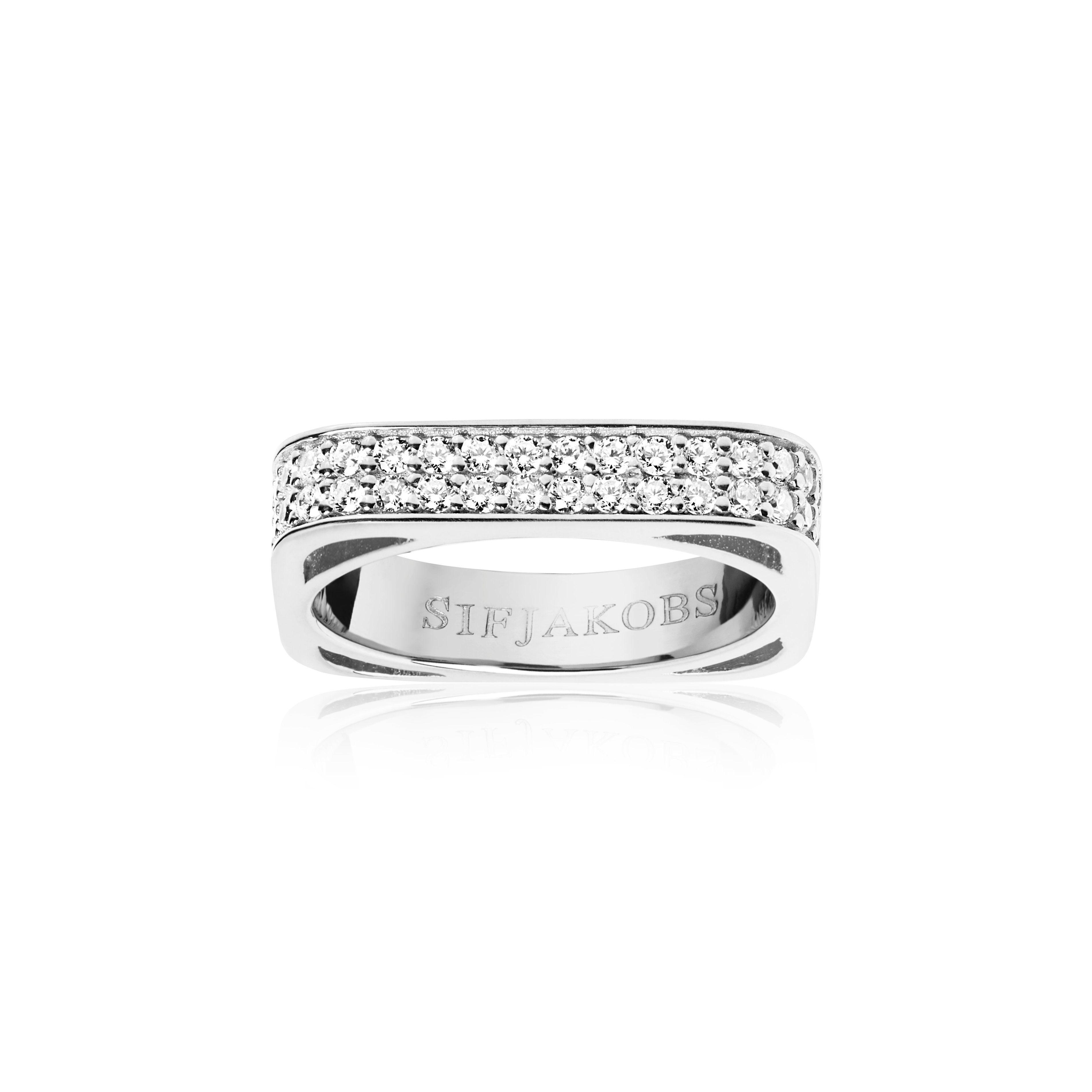 Sif Jakobs Jewellery Ring 925 Silber rhodiniert, mit weißen gefassten Zirkonia »MATERA« online kaufen   OTTO