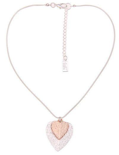 leslii Halskette mit doppeltem Herz-Anhänger