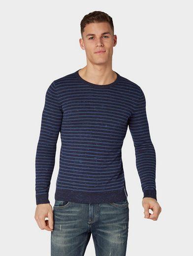 TOM TAILOR Stehkragenpullover »Gestreiftes Sweatshirt«