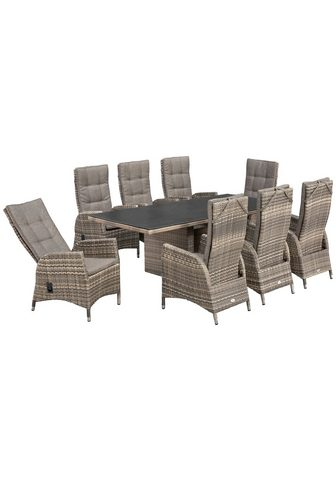 PLOSS Balkono baldai »Tokio« 17-tlg. 8 Fotel...