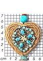 J.Jayz Kette mit Anhänger »sommerlich und romantisch, mit Herz, Seestern und Quaste«, mit Natursteinen, Holz- und Glasperlen, Bild 2