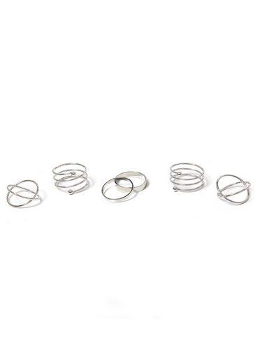 J.Jayz Ring-Set »im teilweise mehrreihigen Design« (Set, 6-tlg)