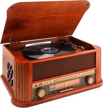Lenco »TCD-2500« Plattenspieler (USB-Recording, UKW-Radio, MP3-Konvertierung)