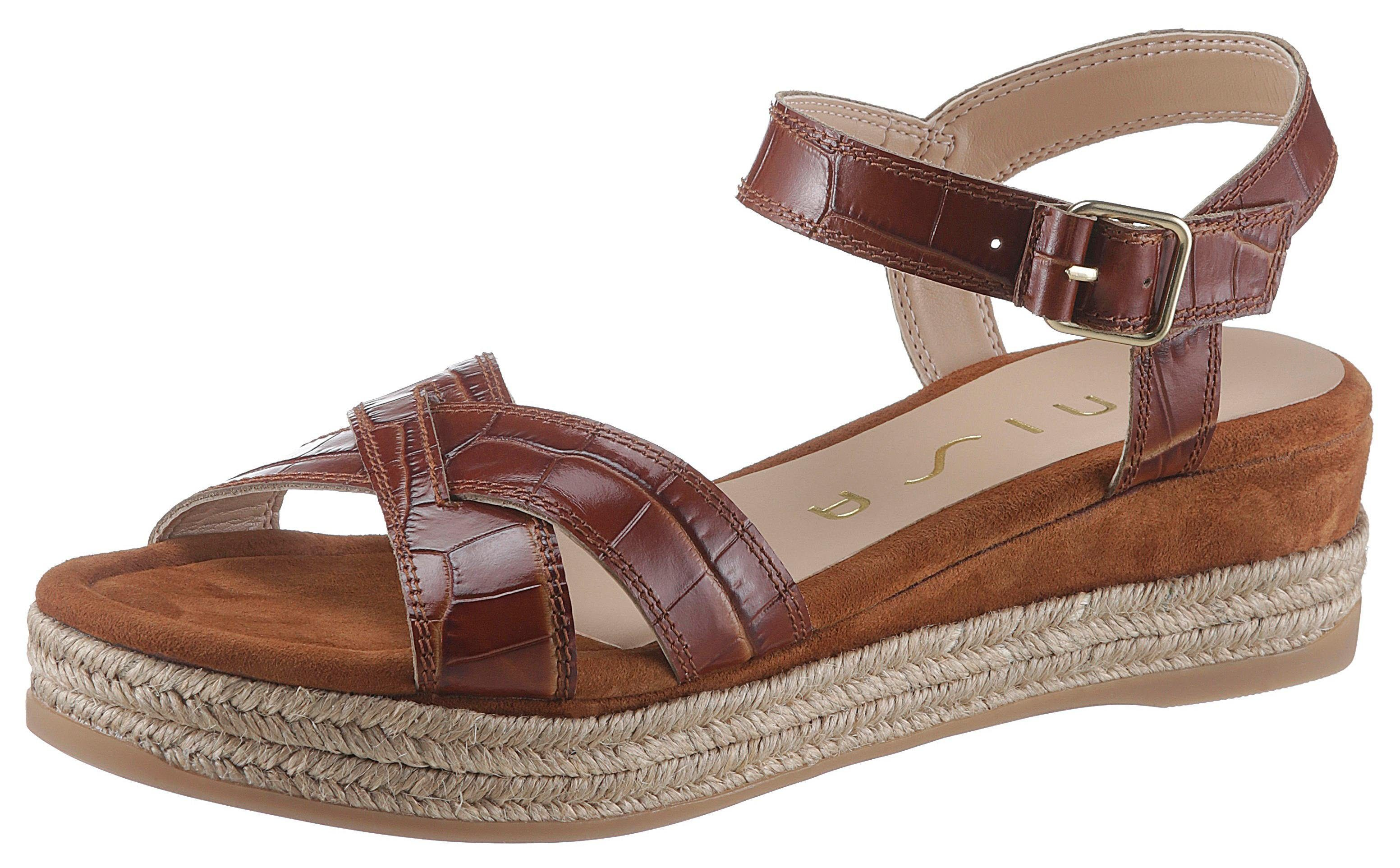 Unisa »Granada« Sandalette mit trendiger Reptilprägung online kaufen   OTTO