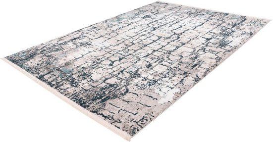 Teppich »Akropolis 100«, me gusta, rechteckig, Höhe 12 mm, Vintage Look mit Fransen