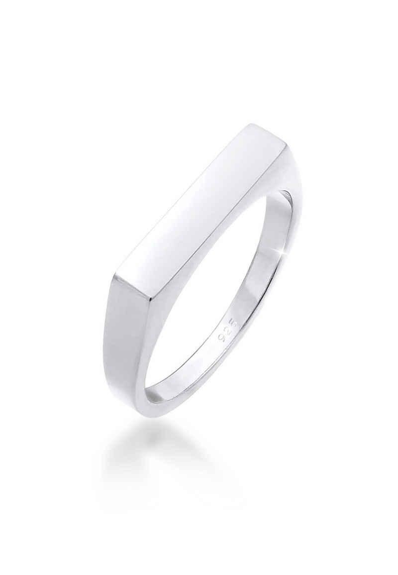 Elli Siegelring »Siegelring Rechteck Pinky Ring 925 Silber«