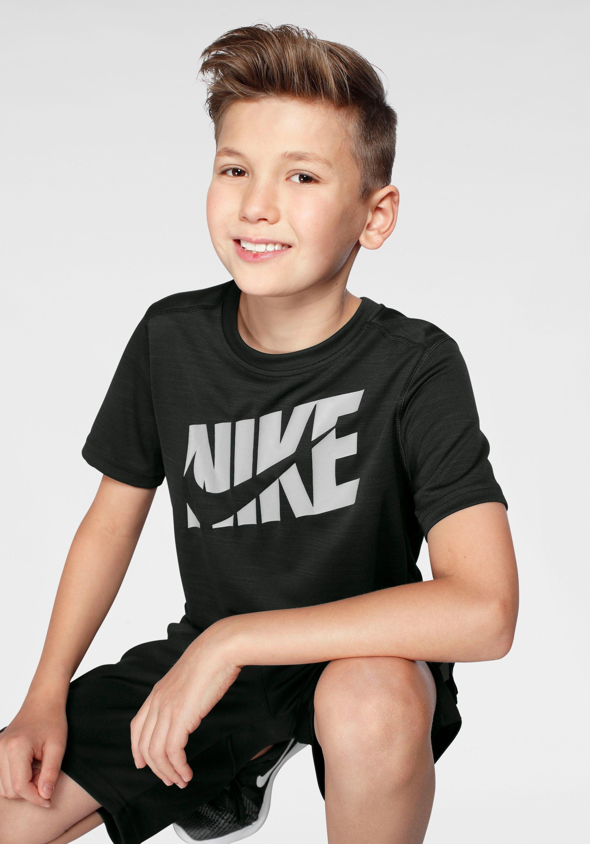 Herren,  Kinder Nike Trainingsshirt »Big Kids Boys Short-Sleeve Training Top«    00193654693190