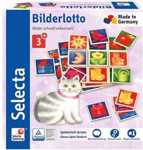 Selecta Spiel, »Bilderlotto«, aus Holz