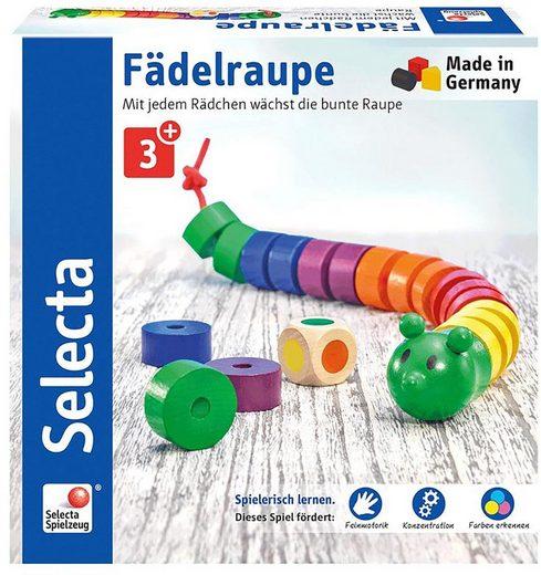 Selecta Spiel, »Fädelraupe«, aus Holz